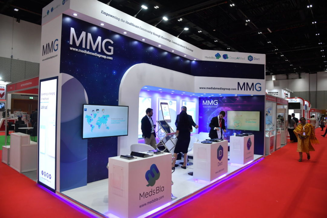 MedsBla stand at Arab Health.