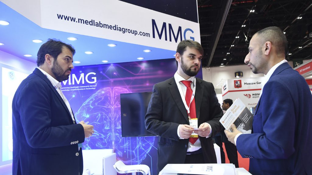 Visits to the MMG stand at Arab Health.