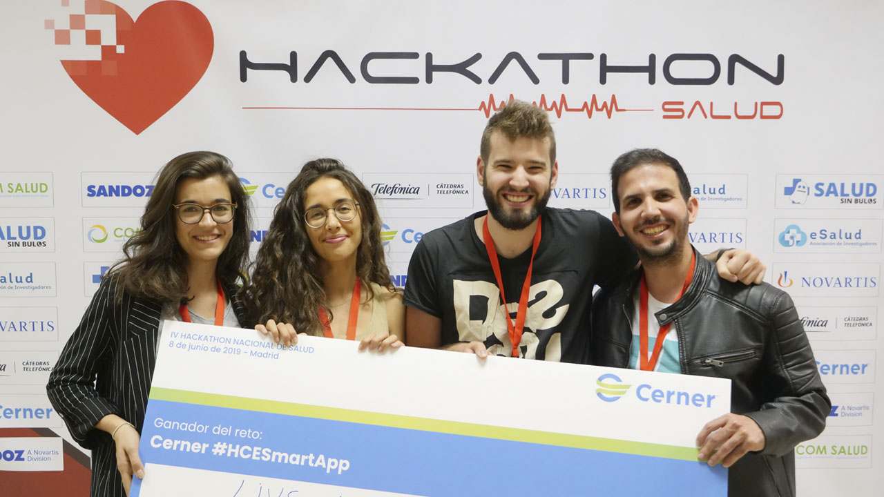 Marcos Rubio and his team during the Health Hachathon.